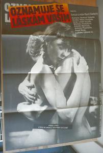Oznamuje se láskám vašim (filmový plakát, film ČSSR 1