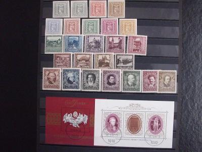 Rakousko *, nálepky na lepu, 1921-23, Mi 270€, + bonus O aršíky