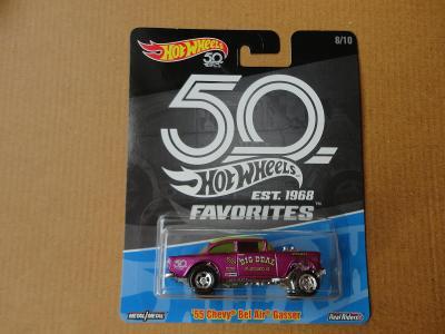 Hot Wheels 55 Chevy BelAir Gasser.Rozbalený.Krabička je otevřena.