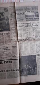 Noviny,tiskopis z 24.8.1968