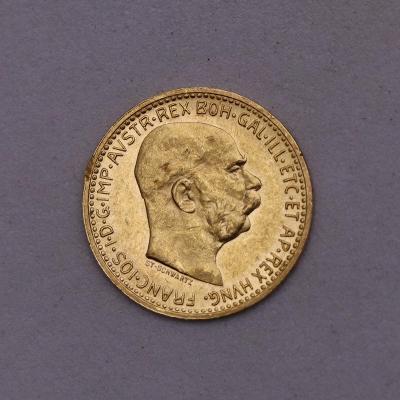 Zlatá 10 Koruna FJ I. 1911 bz - Schwarz - Povedená!