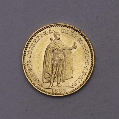 Zlatá 20 Koruna FJ I. 1896 KB - Super a Vzácnější!