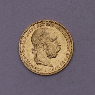 Zlatá 10 Koruna FJ I. 1906 bz - Povedená!