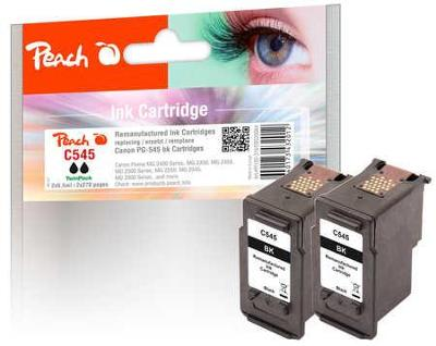 PEACH cartridge Canon PG-545 TwinPack, černá, 2x9,5 ml