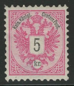 Rakousko / Österreich 1883 - DOPPELADLER - ANK / Mi. 46 *