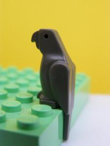 Lego figurka minifigurka LEGO 2546 - PAPOUŠEK ŠEDÝ 100% orig.