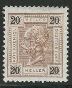 Rakousko / Österreich 1899 - KAISERKOPF - ANK / Mi. 75 **