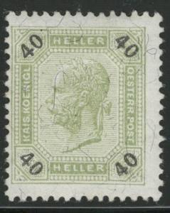 Rakousko / Österreich 1899 - KAISERKOPF - ANK / Mi. 78 *