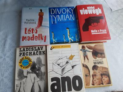 Šest knih-5 kusů vázaných jedna brožovaná