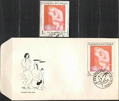 V9120   - FDC obálka prvního dne vydání + známky navíc