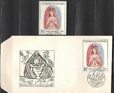 V9121   - FDC obálka prvního dne vydání + známky navíc
