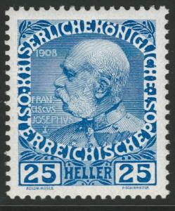 Rakousko / Österreich 1908 - JUBILÄUMSAUSGABE - ANK / Mi. 147 **
