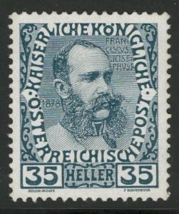 Rakousko / Österreich 1908 - JUBILÄUMSAUSGABE - ANK / Mi. 149 **