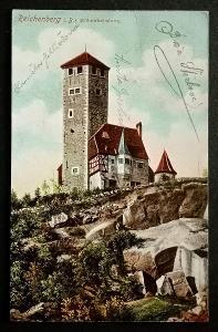 Liberec rozhledna 1909 top stav