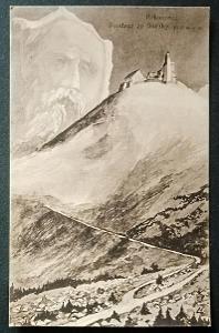 Krkonoše Sněžka 1925 TOP STAV