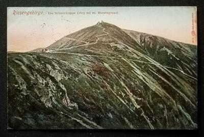 Krkonoše Sněžka 1909 krásný stav