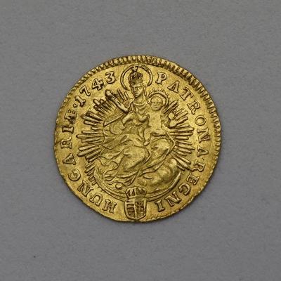 Zlatý Dukát Marie Terezie 1743 KB - Hledaný!
