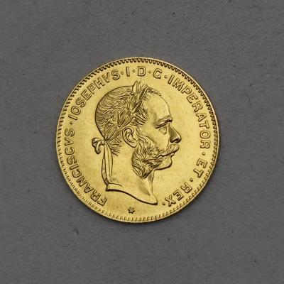 Zlatý Čtyřzlatník FJ I. 1892 bz!