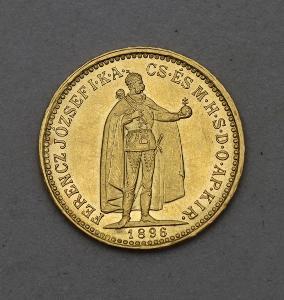 Zlatá 10 Koruna FJ I. 1896 KB - Super Stav a Vzácná!