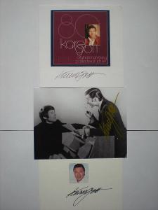 Soubor autogramů Karla Gotta