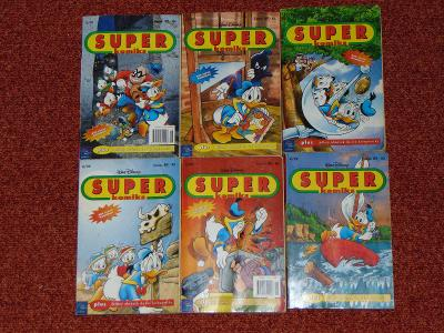 Komiksy- šest krát knížka od Walt Disney