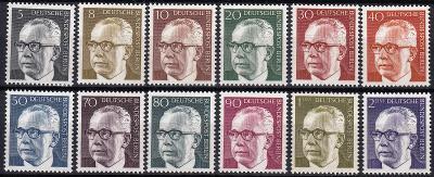 Západní Berlín / West Berlin 1970 Mi.359 -370 MNH ** katalog=12€/330Kč