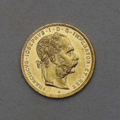 Zlatý Osmizlatník FJ I. 1876 bz - Povedený!