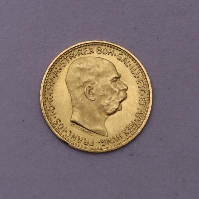 Zlatá 10 Koruna FJ I. 1912 bz - Schwartz - Super Stav!
