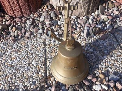 Starý mosazný lodní zvon ,  1942