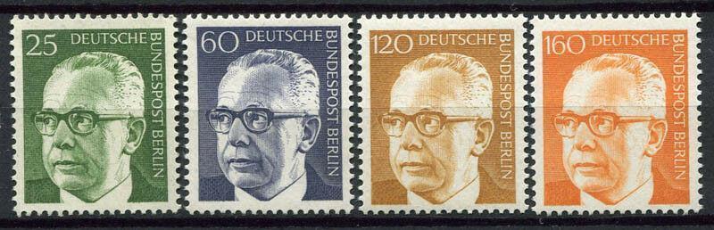 Západní Berlín / West Berlin 1971 Mi.393 -396 MNH ** katalog=6€/165Kč