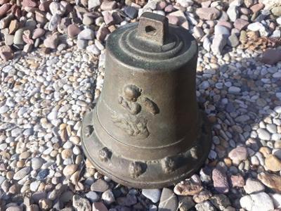 Velmi starý mosazný lodní zvon