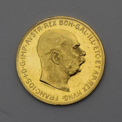 Zlatá 100 Koruna FJ I. 1915 bz - Původní Ražba!