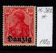 Německo- Danzig 1920 Mi.: 2*