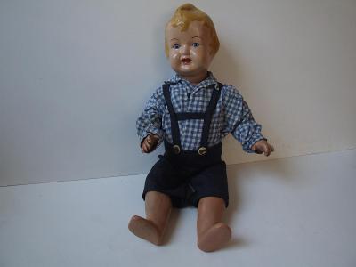 zajímavá panenka  chlapeček z 50 tých let  s účesem do kohouta
