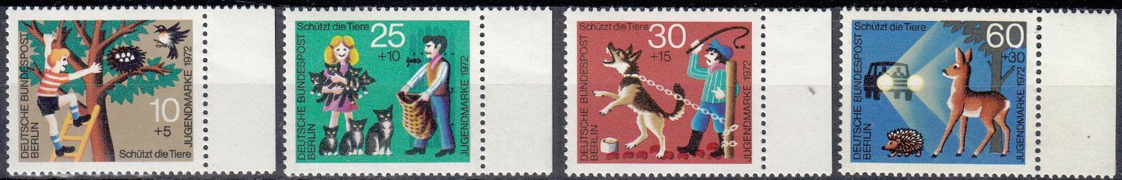 Západní Berlín / West Berlin 1972 Mi.418-421 MNH **