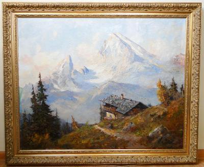 Chata v horách - Autor neurčen, kolem roku 1900.