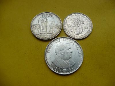 SLOVENSKO  50 koruna 1944 - Dr.Josef Tiso+20 korun 1941+10 korun 1944