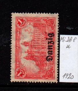 Německo- Danzig 1920 Mi.: 8*
