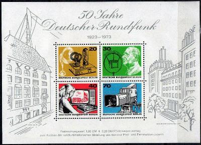 Západní Berlín / West Berlin 1973 Mi.455-458 aršík MNH **