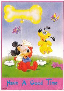 Dětská kreslená pohlednice