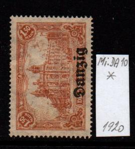 Německo- Danzig 1920 Mi.: 10*