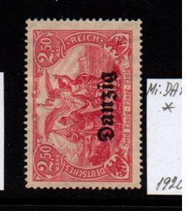 Německo- Danzig 1920 Mi.: 12*