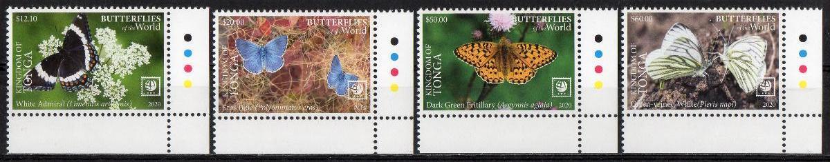 Tonga-Motýli 2020**  Mi.2364-2367 / 125 €