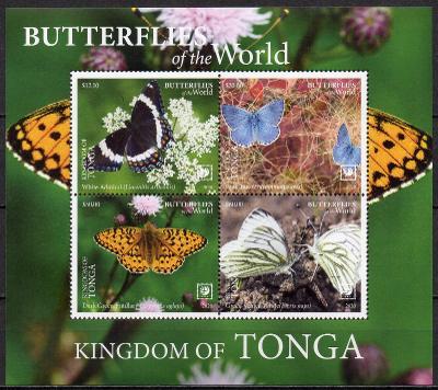 Tonga-Motýli 2020**  Mi.Bl.138 / 125 €