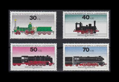 Západní Berlín / West Berlin 1975 Mi.488-491 MNH** želenice-lokomotivy
