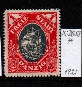 Německo- Danzig 1920 Mi.: 58*