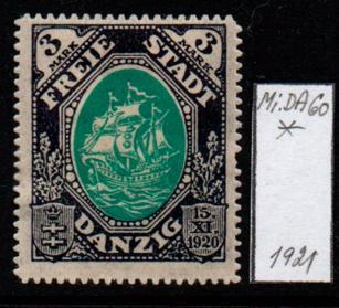 Německo- Danzig 1920 Mi.: 60*