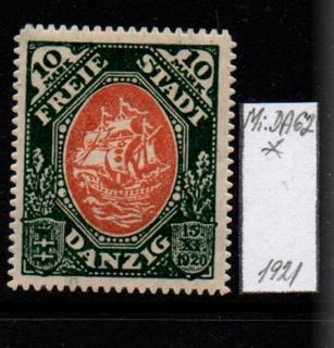 Německo- Danzig 1920 Mi.: 62*
