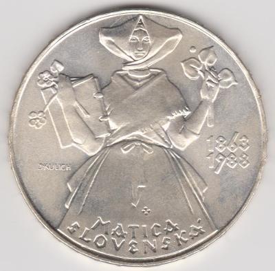 500 Kčs 1988 Matica Slovenská stribro  RARITNI  od KORUNY !!!!