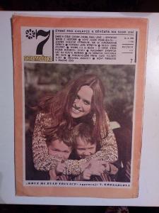 Časopis, Sedmička, č. 7/1969, zachovalý stav